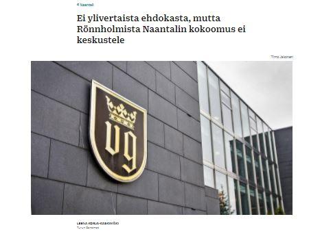 Ei Rönnholm 20210215