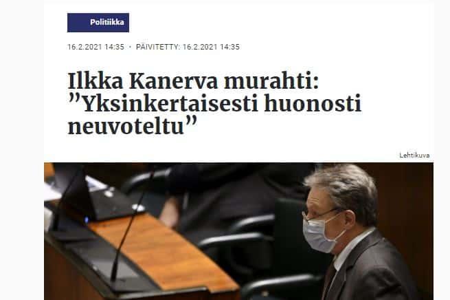 Ilkka Kanerva EU tukipaketti 20210216