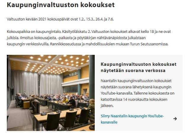 Kaupunginvaltuuston kokoukset 20210102JPG