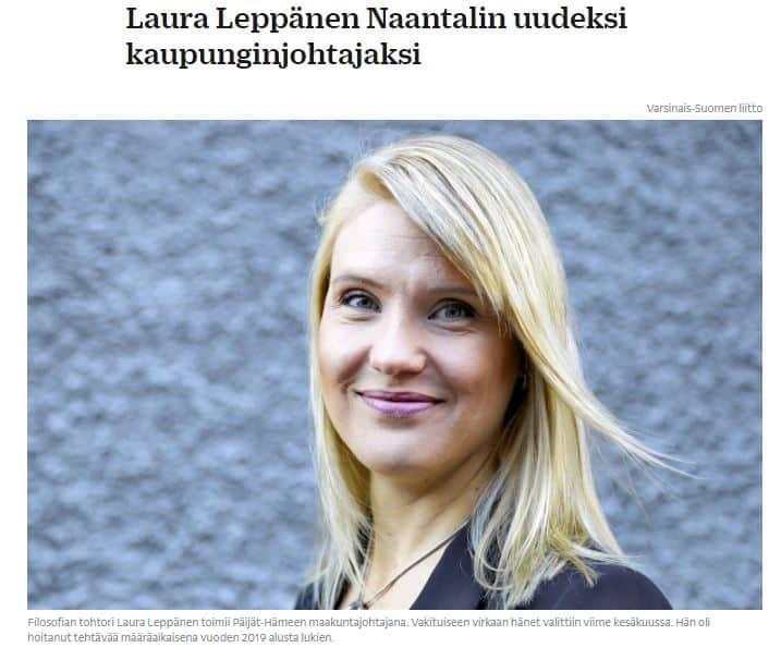 laura Leppäsen valinta varmistui 20210225