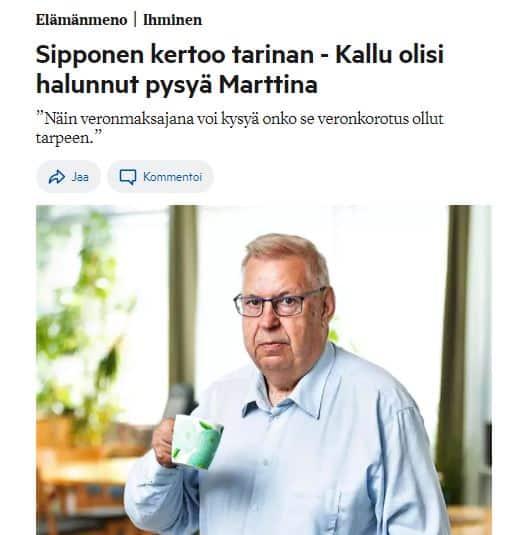 Sipponen kertoi tarinan RS 20210309