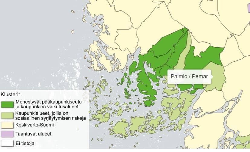 Kuntien luokitus Kalevi Sorsa säätiö 20210420JPG