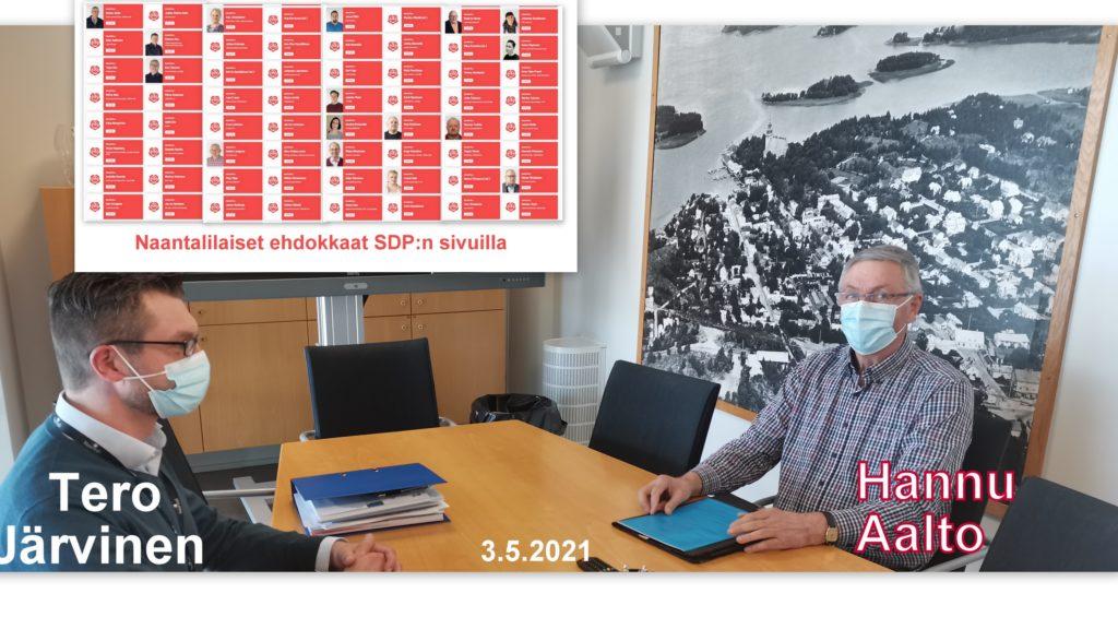 Hannu aalto ja Tero Järvien sdp listat 20210503