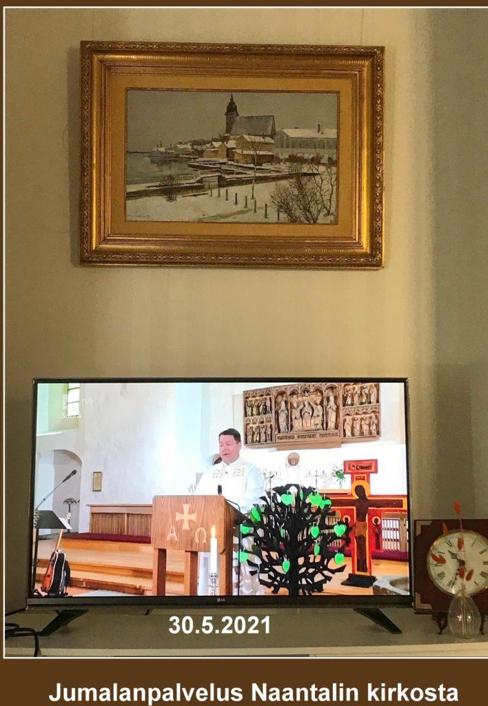 Jumalanpalvelus Naantalin kirkossa 20210530