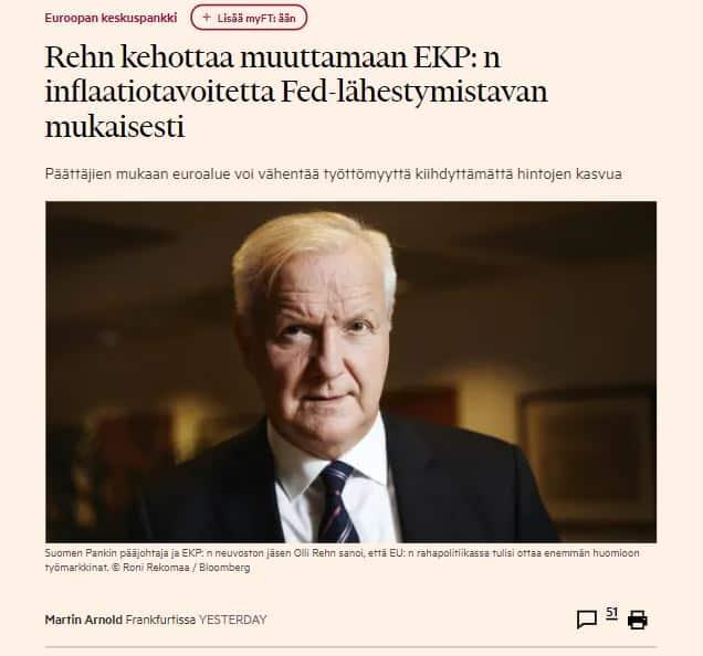 Ollli Rehn rohkeana FT 20210509