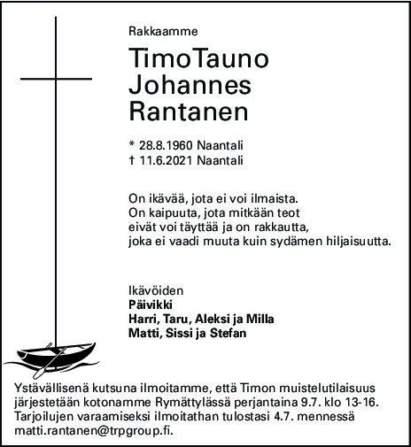 Rantanen Timo muistelutilaisuus