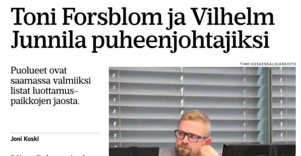 Toni Forsblom ja Vilhelm Junnila RS 20210730