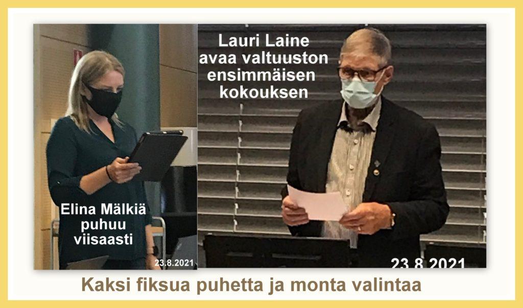 Laine ja Mälkiä puhuivat 20210823