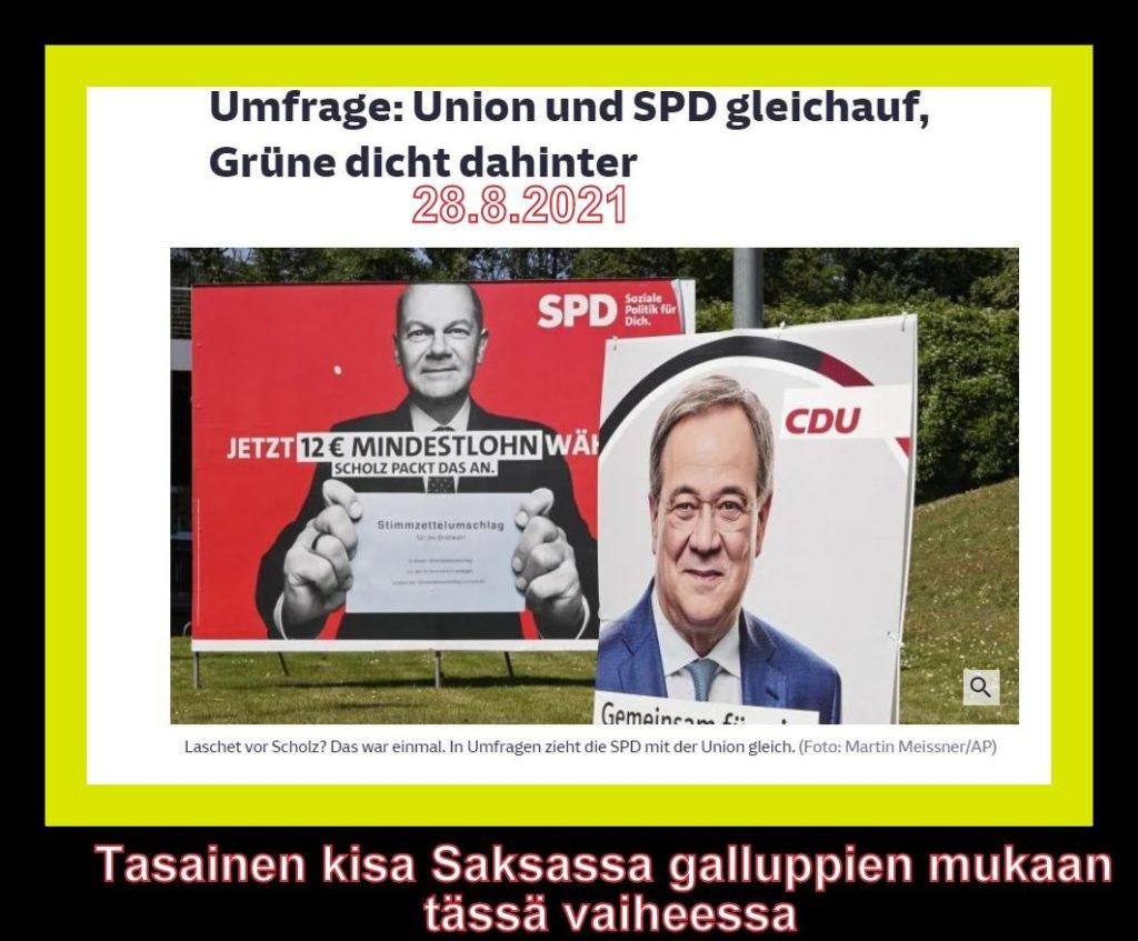 Saksan vaaleissa tasaista 20210828PG
