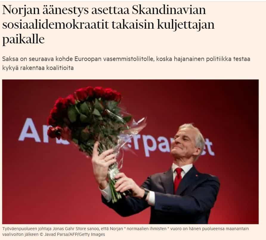 Norjan äänestys 20210914